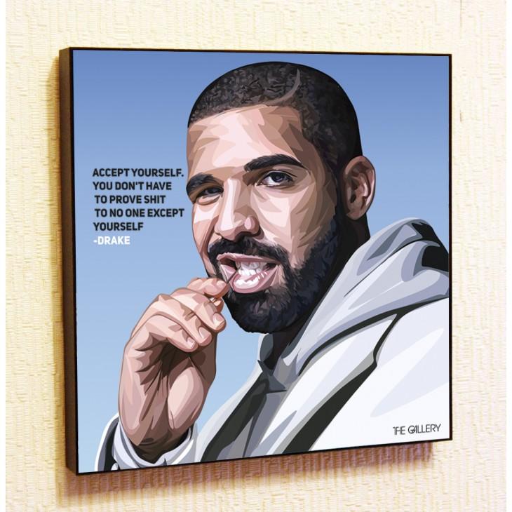 Картина постер в стиле поп-арт Дрейк