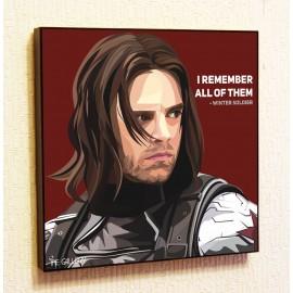 Картина постер в стиле поп-арт Зимний солдат
