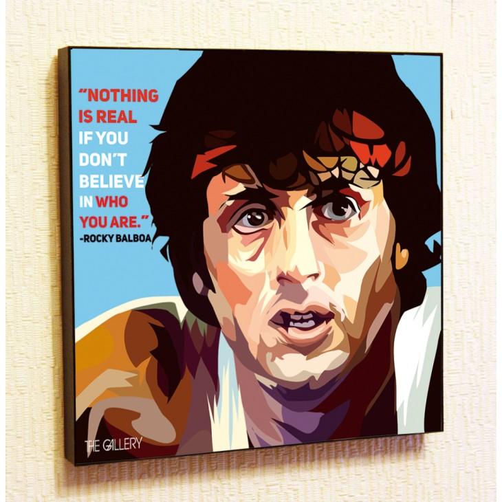 Картина постер в стиле поп-арт Рокки Бальбоа