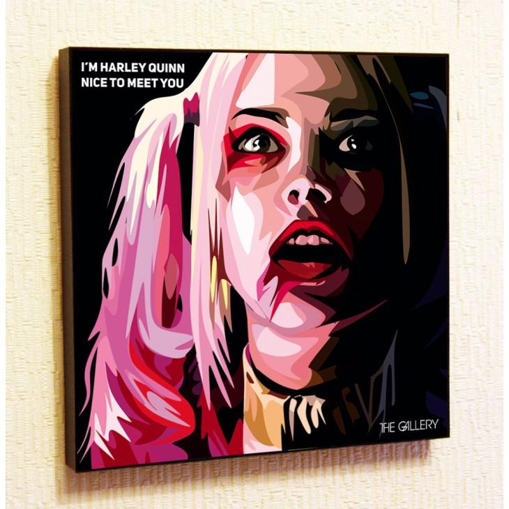 Картина постер в стиле поп-арт Харли Квинн (Отряд Самоубийц)