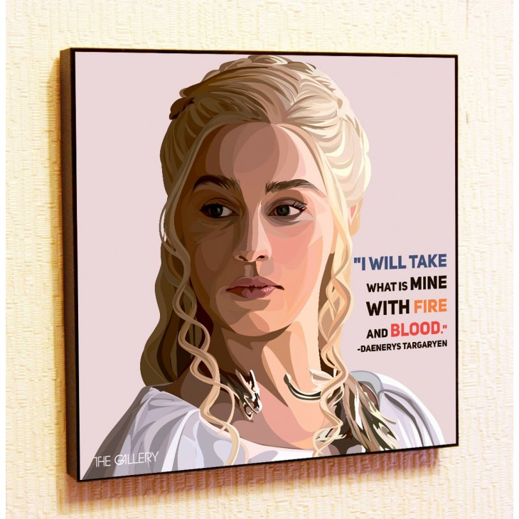 Картина постер в стиле поп-арт Дейнерис Таргариен