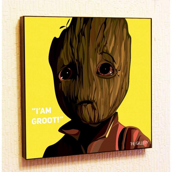 Картина постер в стиле поп-арт Маленький Грут
