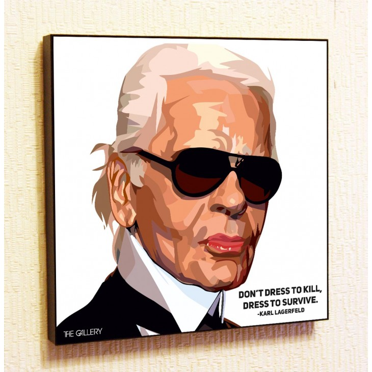 Картина постер в стиле поп-арт Карл Лагерфельд