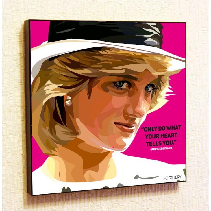 Картина постер в стиле поп-арт Принцесса Диана