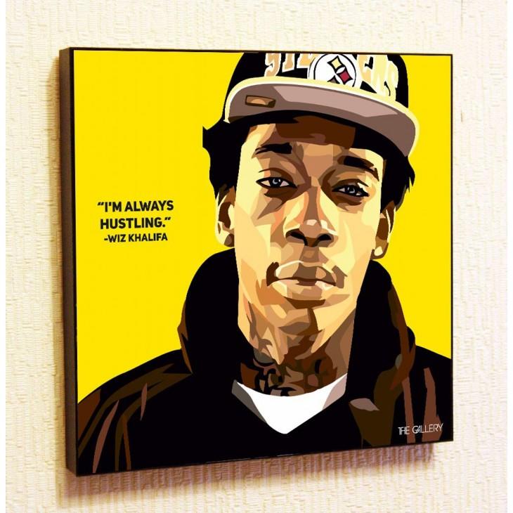 Картина постер в стиле поп-арт  Уиз Халифа