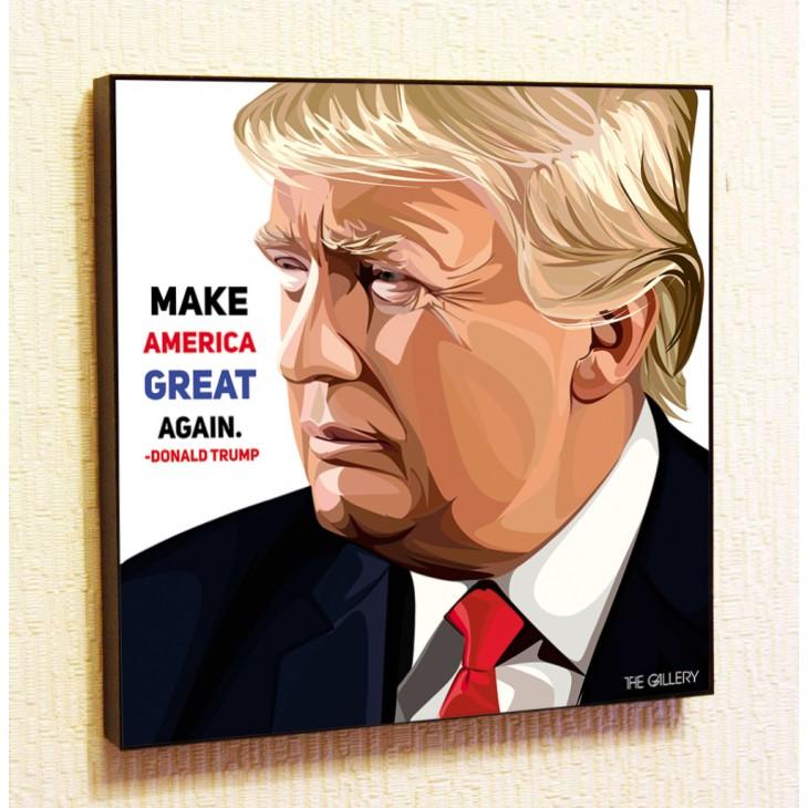 Картина постер в стиле поп-арт Дональд Трамп