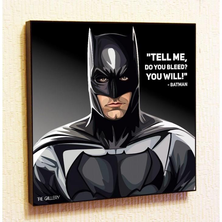 Картина постер в стиле поп-арт  Бэтмен Бен Аффлек
