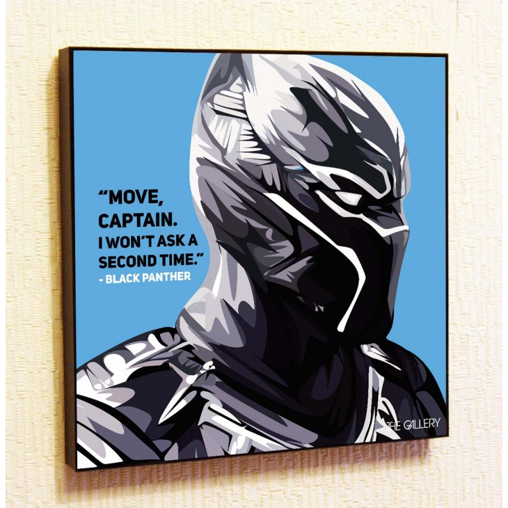 Картина постер в стиле поп-арт Черная пантера