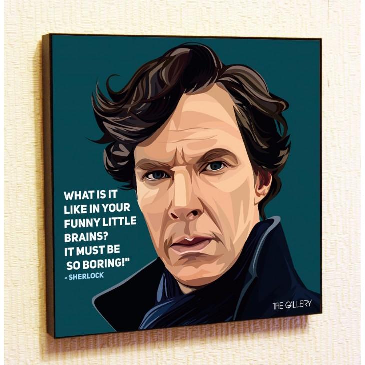 Картина постер в стиле поп-арт Сериал Шерлок
