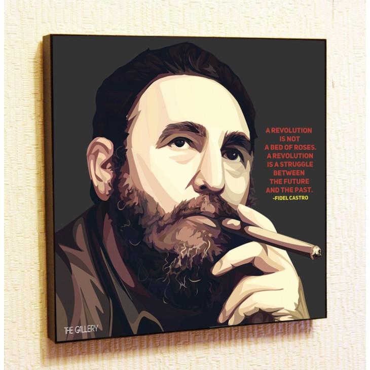 Картина постер в стиле поп-арт Фидель Кастро