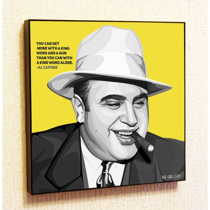 Картина постер в стиле поп-арт Аль Капоне