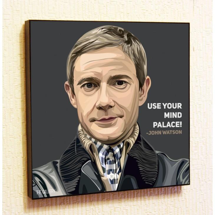 Картина постер в стиле поп-арт Доктор Ватсон