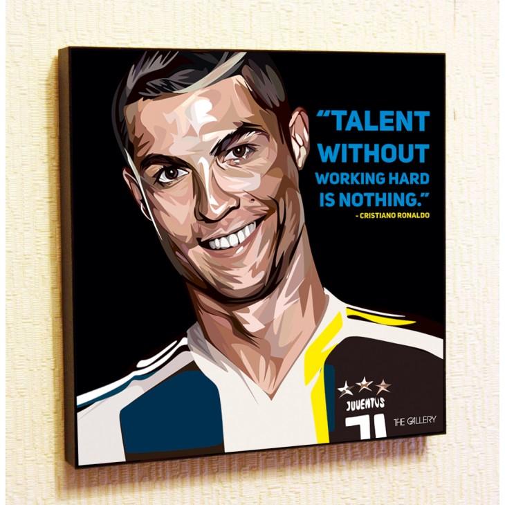 Картина постер в стиле поп-арт Криштиану Роналду Ювентус