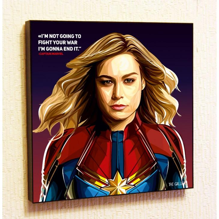 Картина постер в стиле поп-арт Капитан Марвел