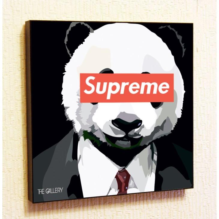 Картина постер в стиле поп-арт Supreme Панда