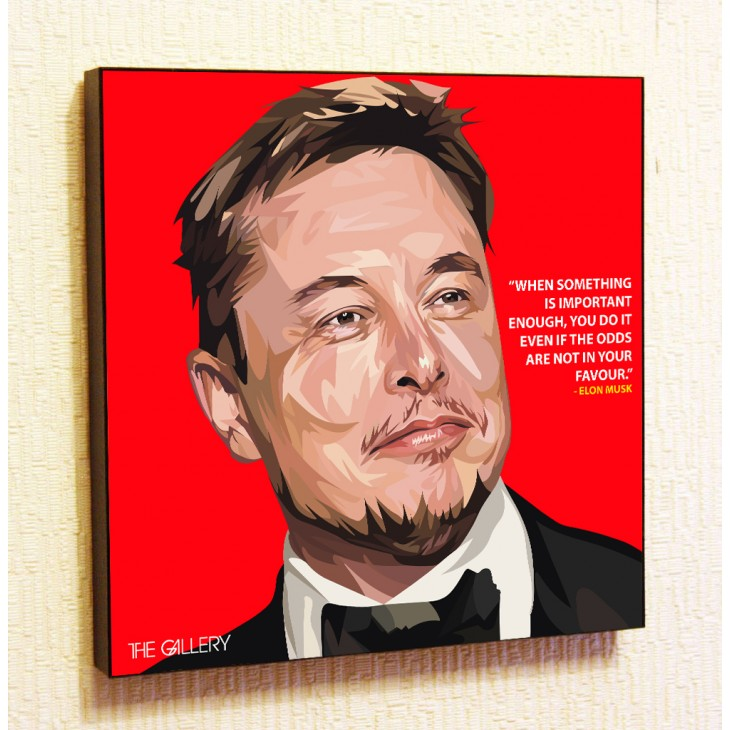 Картина постер в стиле поп-арт Илон Маск