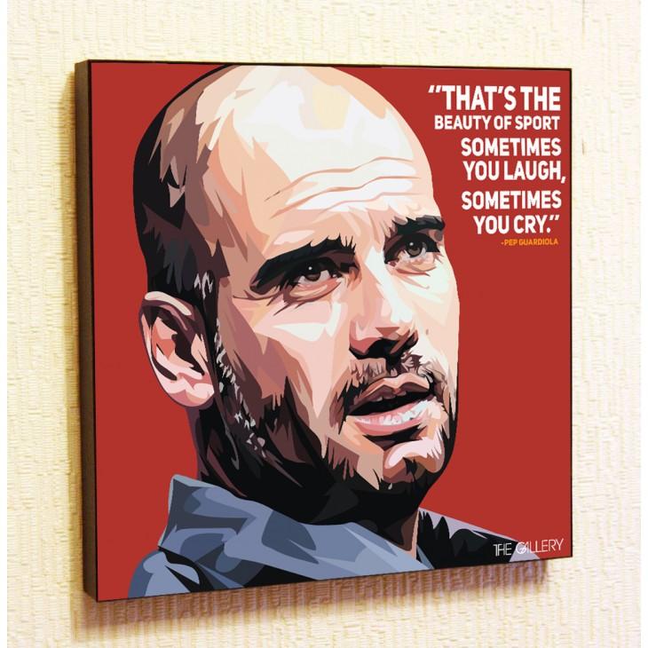 Картина постер в стиле поп-арт Хосеп Гвардиола Манчестер Сити