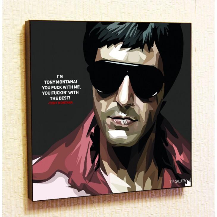 Картина постер в стиле поп-арт Тони Монтана для кабинета начальника
