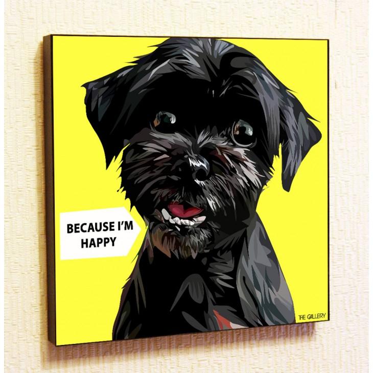 Картина постер в стиле поп-арт Счастливый Пес