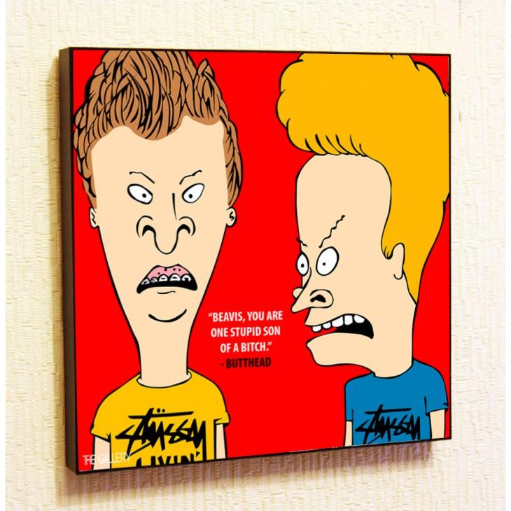 Картина постер в стиле поп-арт  Бивис и Баттхед