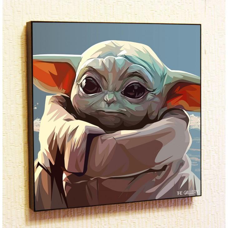Картина постер в стиле поп-арт Малыш Йода