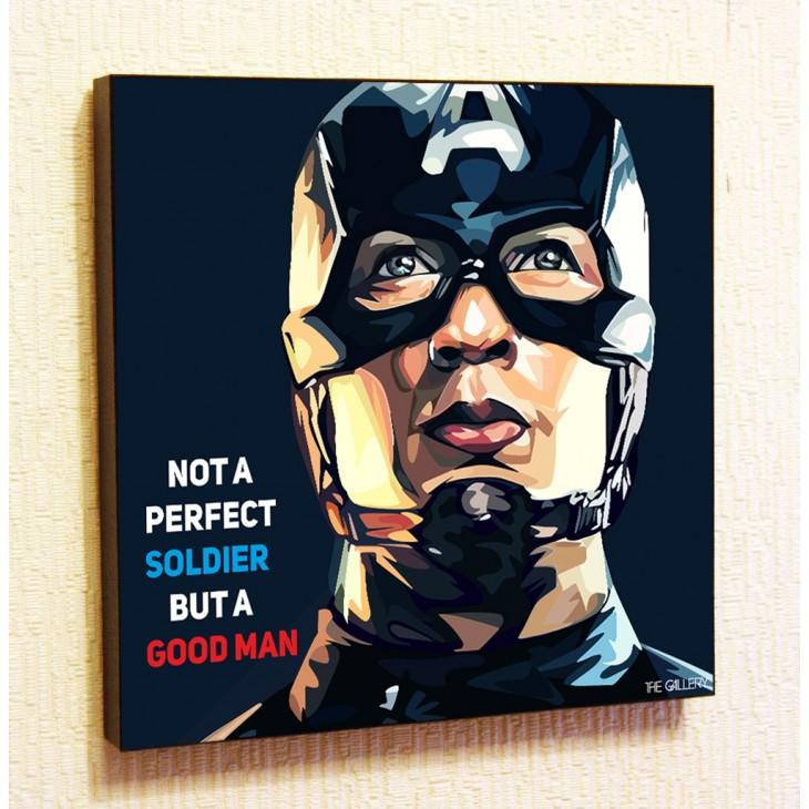 Картина постер в стиле поп-арт Капитан Америка мстители