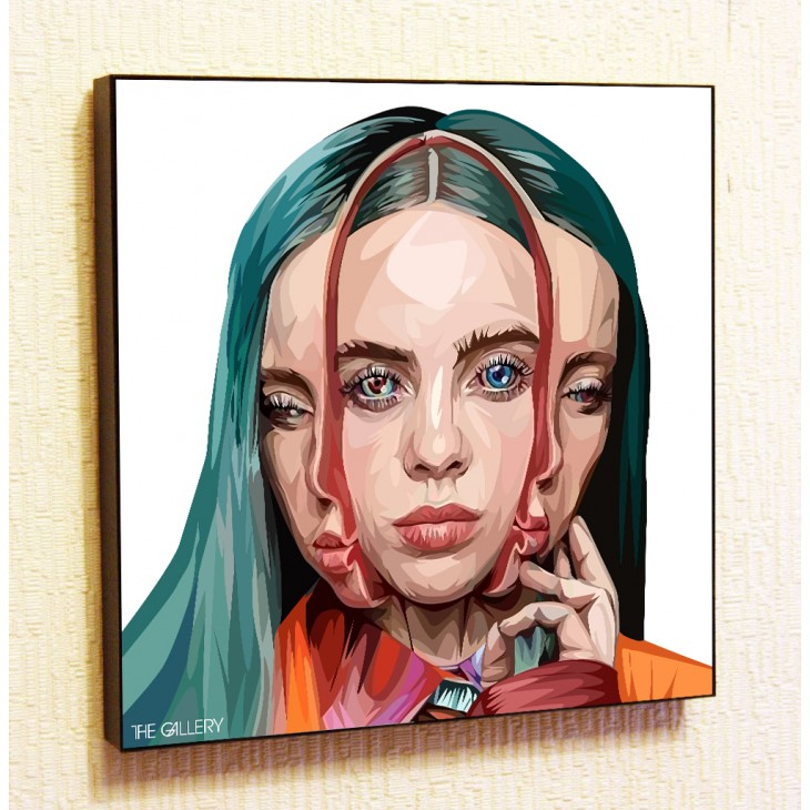 Картина постер в стиле поп-артБилли Айлиш