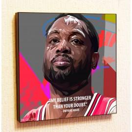 Картина постер в стиле поп-арт Дуэйн Уэйд баскетбол