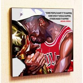 Картина постер в стиле поп-арт Майкл Джордан баскетбол