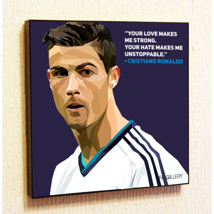 Картина постер в стиле поп-арт Криштиану Роналдо