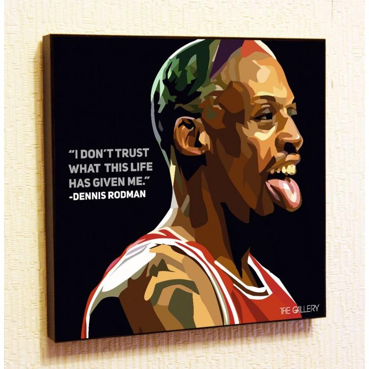 Картина постер в стиле поп-арт Дэннис Родман