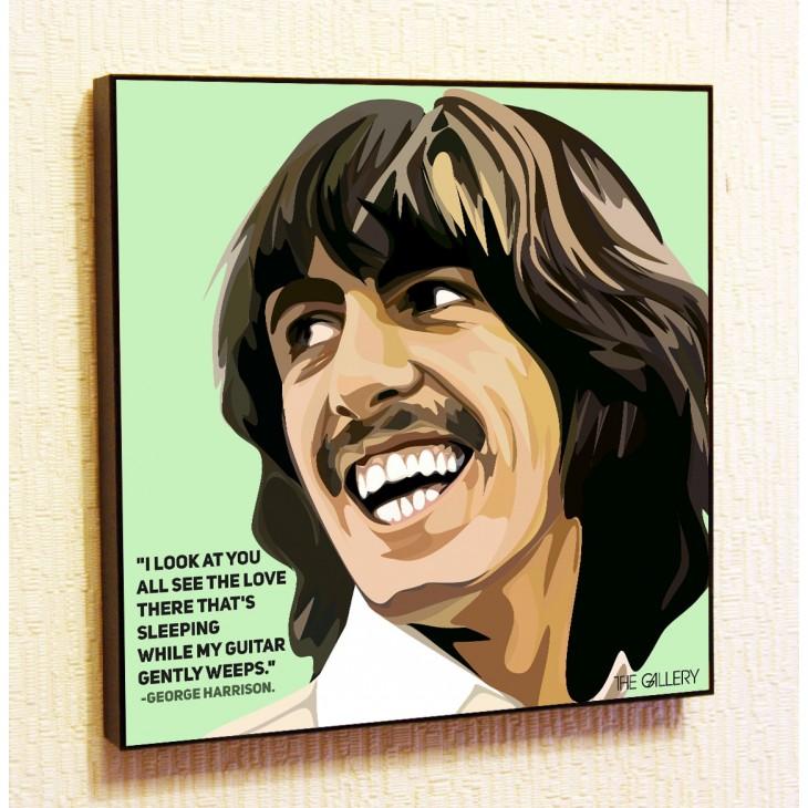 Картина постер в стиле поп-арт Джордж Харрисон