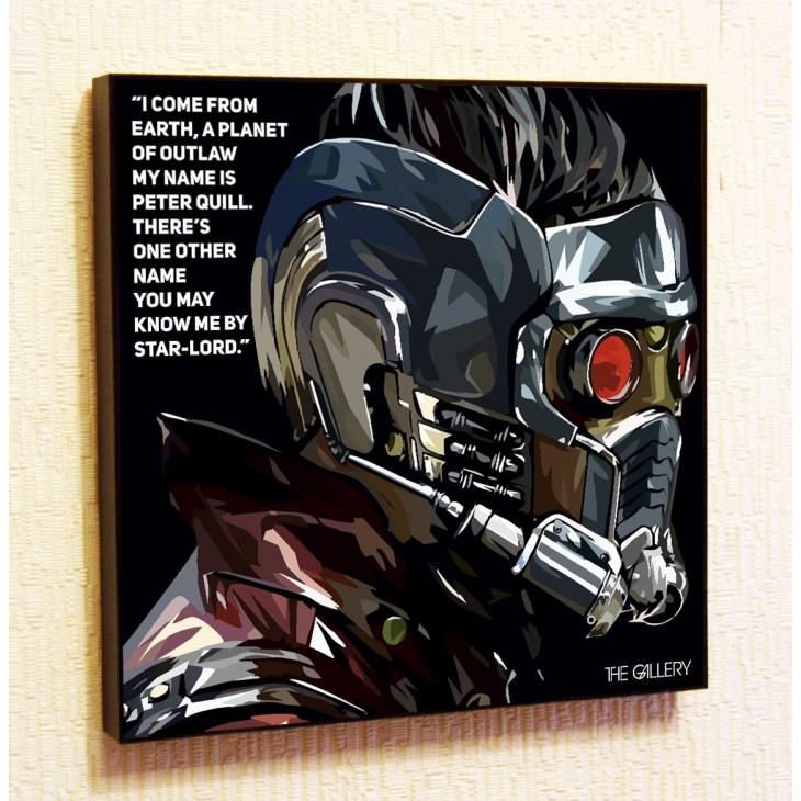 Картина постер в стиле поп-арт Звёздный Лорд