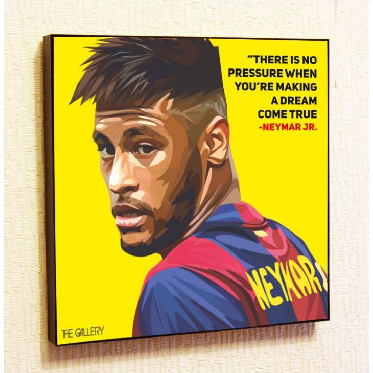 Картина постер в стиле поп-арт Неймар