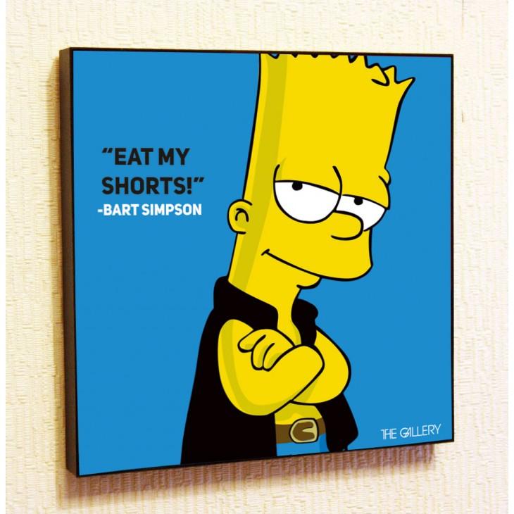 Картина постер в стиле поп-арт Барт Симпсон