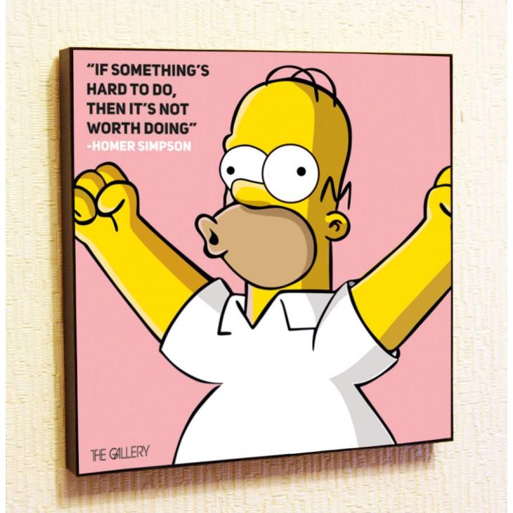 Картина постер в стиле поп-арт Гомер Симпсон