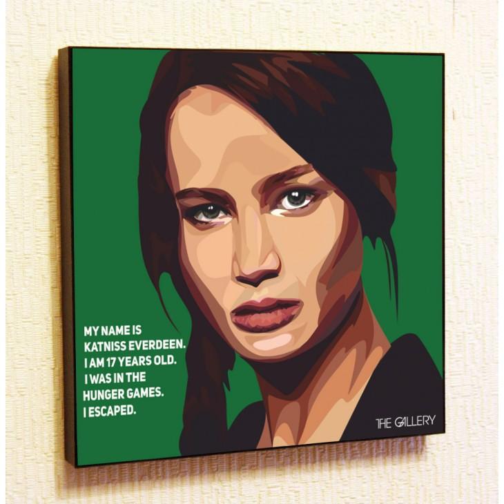 Картина постер в стиле поп-арт Китнисс Эвердин