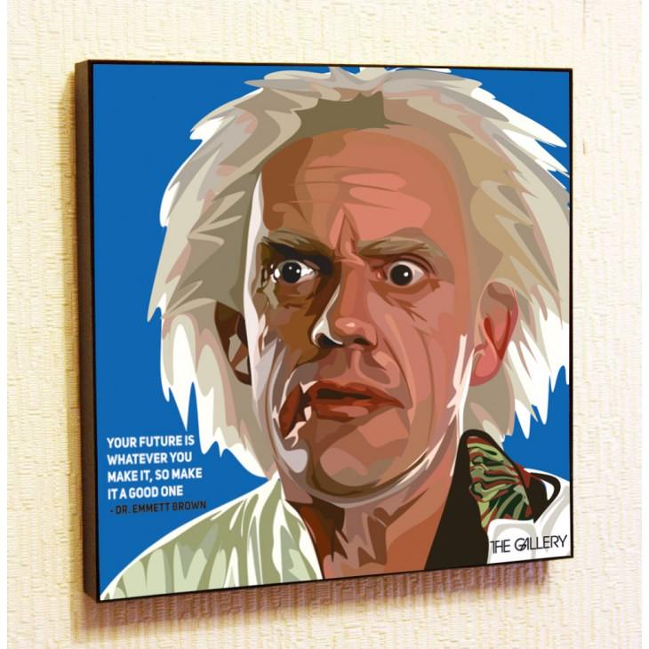 Картина постер в стиле поп-арт Эммет Браун