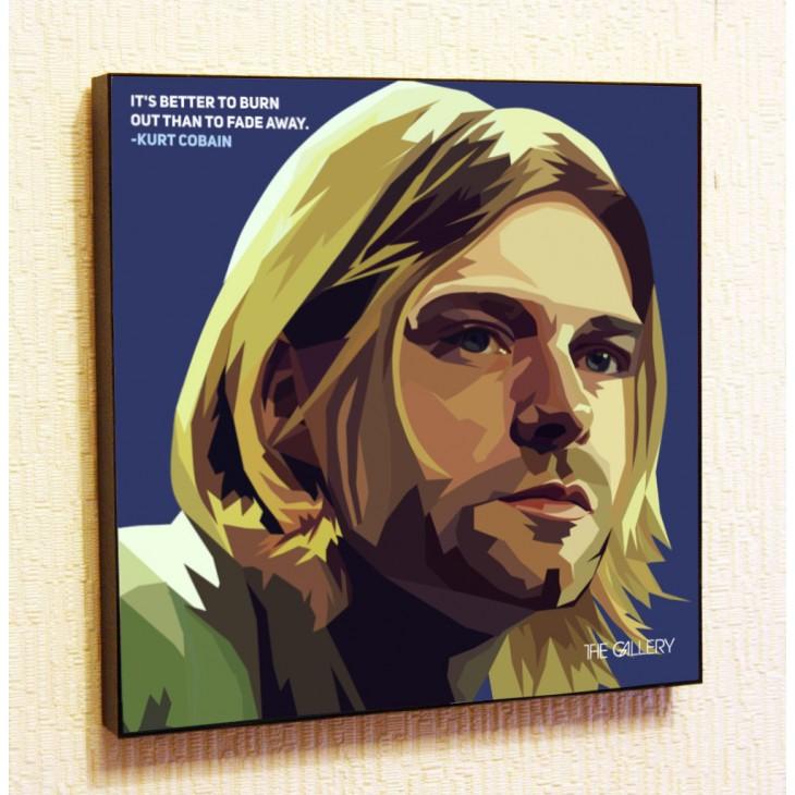 Картина постер в стиле поп-арт Курт Кобейн