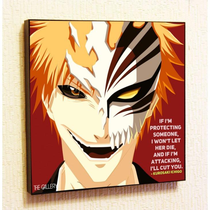 Картина постер в стиле поп-арт Ичиго Куросаки