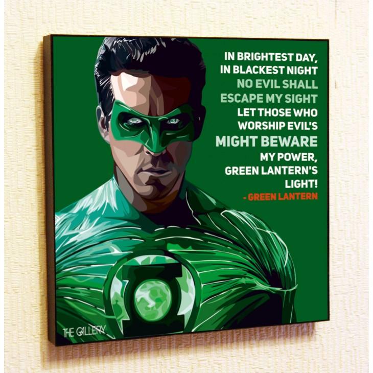 Картина постер в стиле поп-арт Зеленый Фонарь