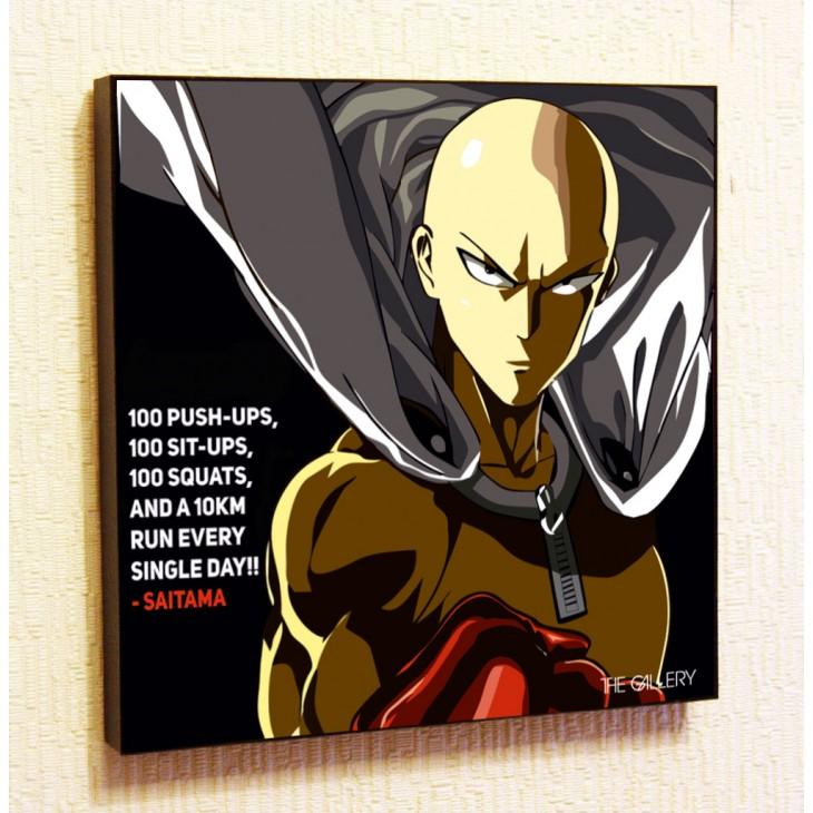 Картина постер в стиле поп-арт Сайтама
