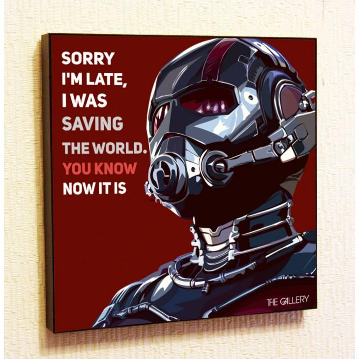 Картина постер в стиле поп-артЧеловек-муравей