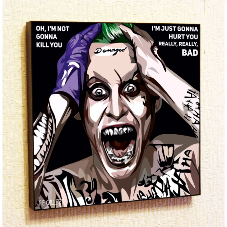Картина постер в стиле поп-арт  Джокер (Отряд самоубийц)