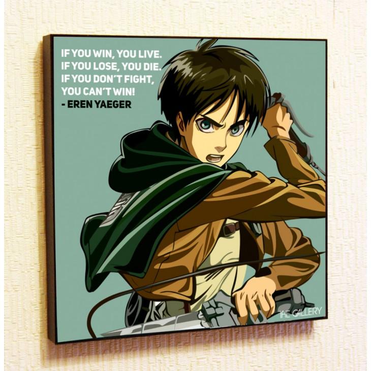 Картина постер в стиле поп-арт Эрен Йегер