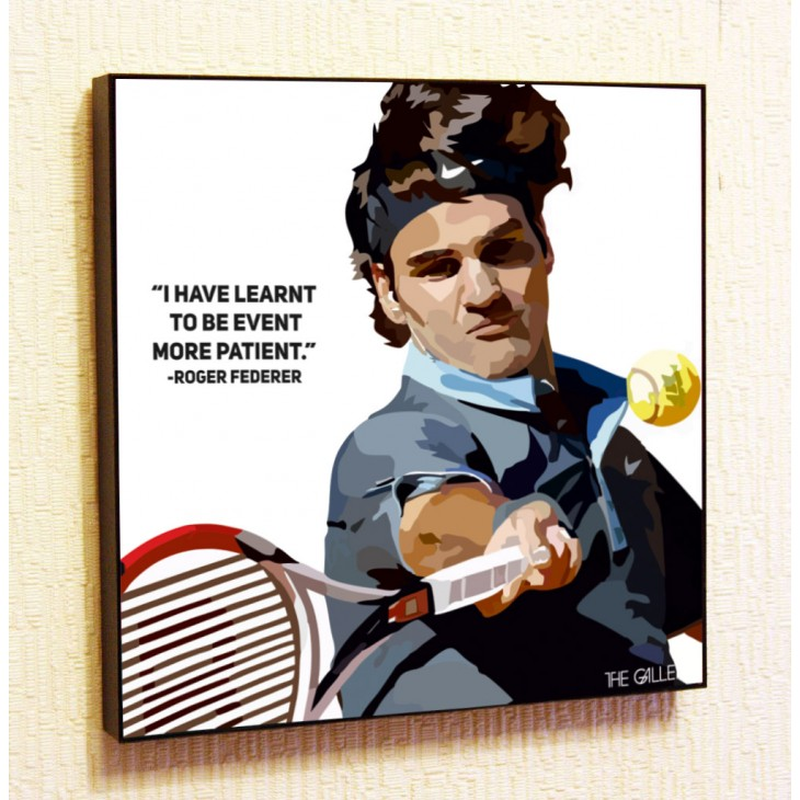 Картина постер в стиле поп-арт Роджер Федерер