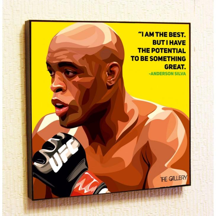 Картина постер в стиле поп-арт Андерсон Силва