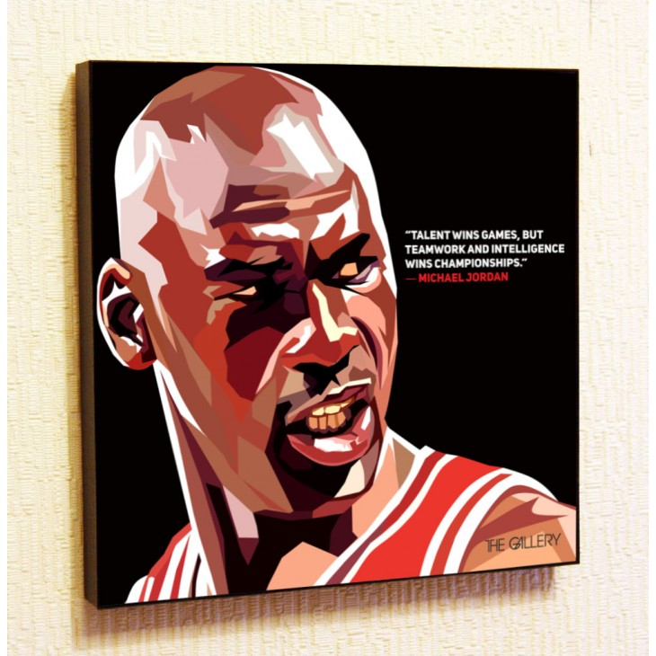 Картина постер в стиле поп-арт Майкл Джордан