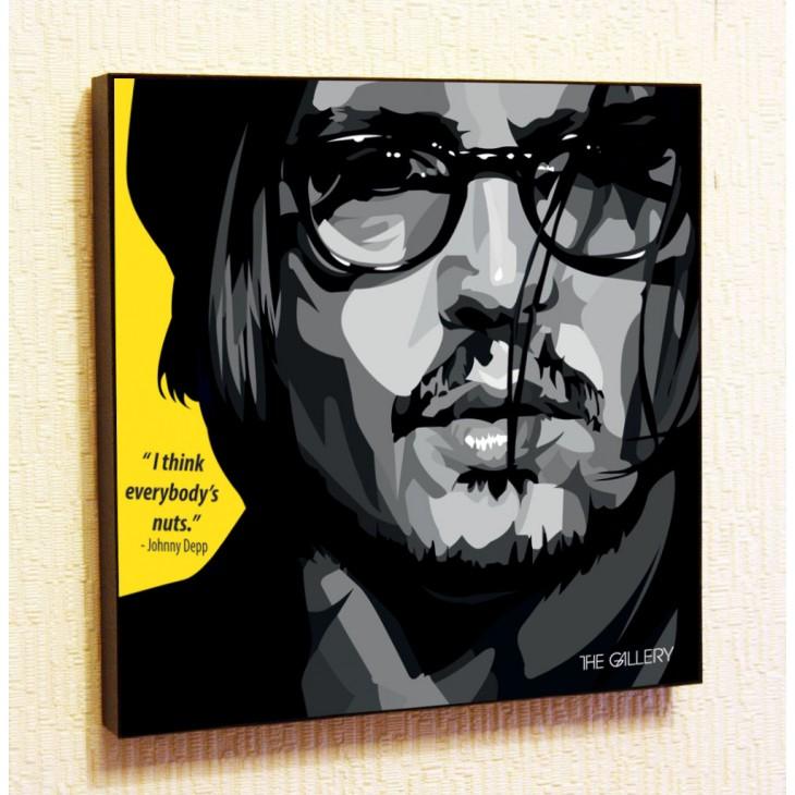 Картина постер в стиле поп-арт Джонни Депп