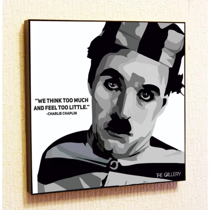 Картина постер в стиле поп-арт Чарли Чаплин